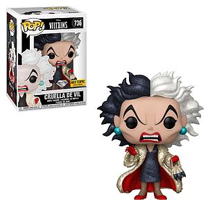 Pop! Disney Villains Vinyl Figure Cruella De Vil (Diamond Collection) #736 Hot Topic Exclusive