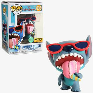 Pop! Disney Lilo & Stitch Vinyl Figure Summer Stitch (Scented) #636 Hot Topic Exclusive