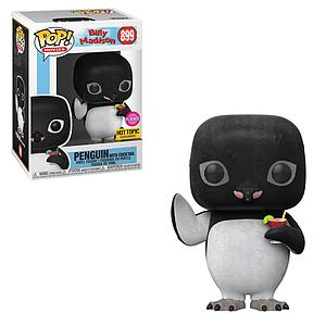 Pop! Movies Billy Madison Vinyl Figure Penguin with Cocktail (Flocked) #899 Hot Topic Exclusive