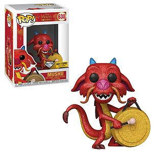 Pop! Disney Mulan Vinyl Figure Mushu (with Gong) (Diamond Collection) #630 Hot Topic Exclusive