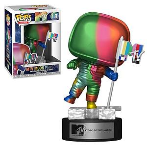 Pop! Icons MTV Vinyl Figure MTV Moon Person (Rainbow) #18