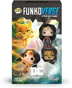 Pop! Funkoverse Strategy Game DC 102 2-Pack (Wonder Woman & The Cheetah)