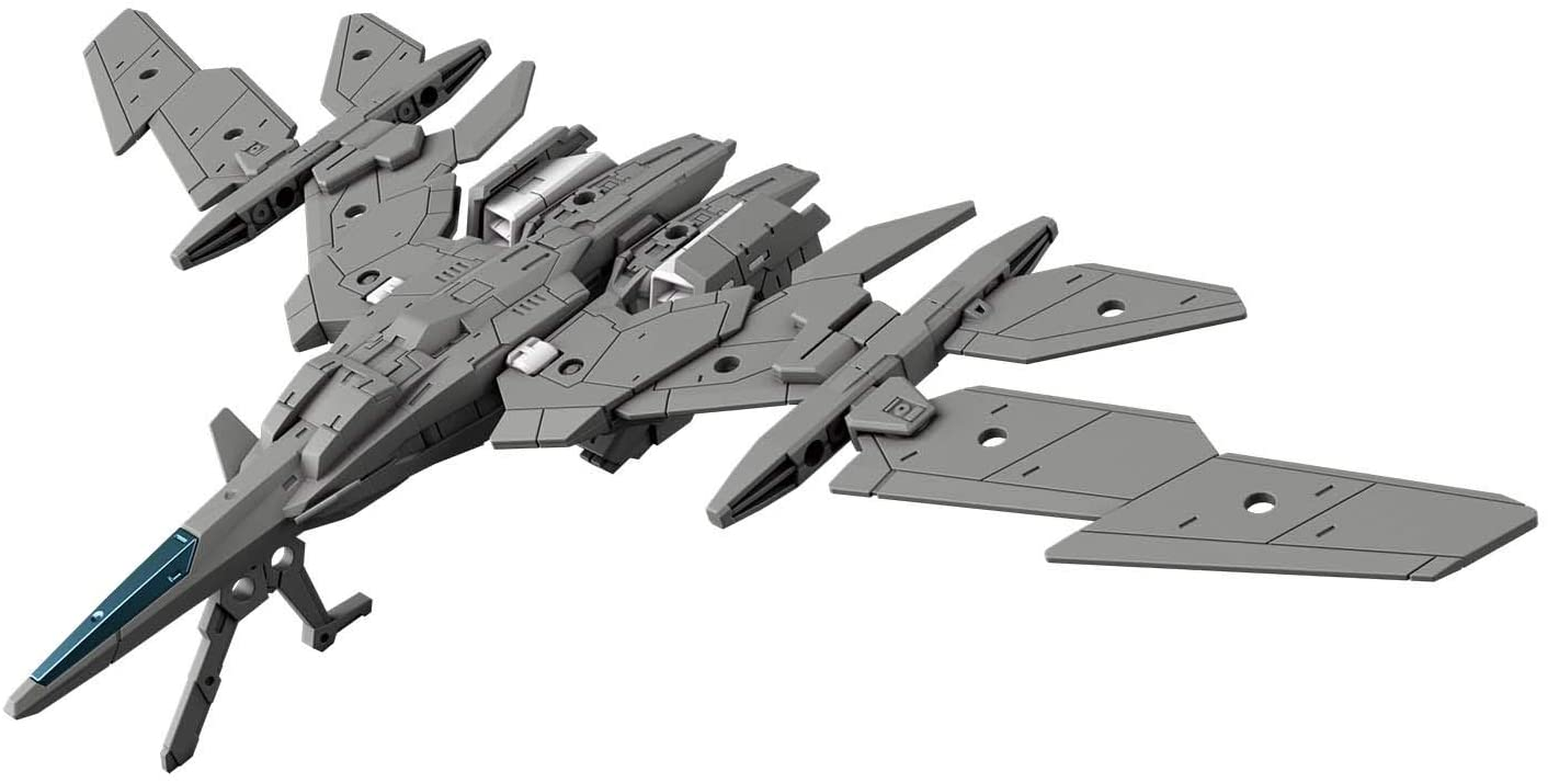 30MM 1/144 Scale Model Kit: EV-02 Extended Armament Vehicle (Air Fighter Ver.) (Gray)