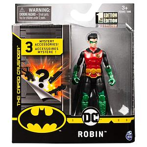"SPIN MASTER DC Batman 4"" Action Figure Guardian Robin (Metallic)"