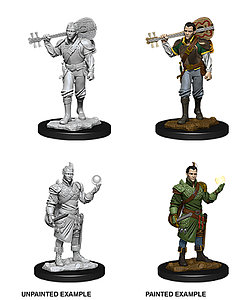 Dungeons & Dragons Nolzur's Marvelous Unpainted Miniatures: Male Half-Elf Barbarian
