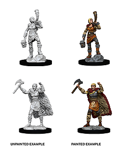 Dungeons & Dragons Nolzur's Marvelous Unpainted Miniatures: Female Human Barbarian