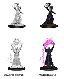 Dungeons & Dragons Nolzur's Marvelous Unpainted Miniatures: Drow Mage & Drow Priestess