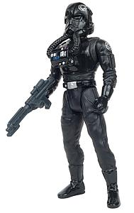 "Star Wars The Power of the Force 3.75"" Action Figure TIE Fighter Pilot with Imperial Blaster Pistol and Rifle (Bilingual Package)"