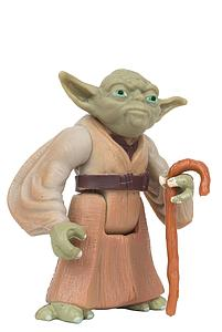 "Star Wars The Power of the Force 3.75"" Action Figure Yoda with Jedi Trainer Backpack and Gimer Stick (Bilingual Package)"