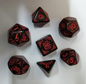 7-Dice Set: Dragons of the Red Moon