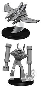 Transformers Deep Cuts Unpainted Miniatures: Laserbeak and Frenzy
