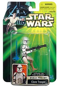 "Star Wars Sneak Preview Attack of the Clones 3.75"" Action Figure Clone Trooper"