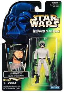 "Star Wars The Power of the Force 3.75"" Action Figure AT-ST Driver with Blaster Rifle and Pistol (Trilingual Package)"