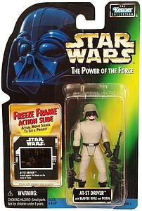 "Star Wars The Power of the Force 3.75"" Action Figure AT-ST Driver with Blaster Rifle and Pistol (Freeze Frame) (Trilingual Package)"