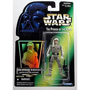 "Star Wars The Power of the Force 3.75"" Action Figure Luke Skywalker in Hoth Gear with Blaster Pistol and Lightsaber"