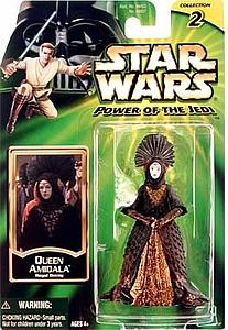 "Star Wars Power of the Jedi 3.75"" Action Figure Queen Amidala Royal Decy"