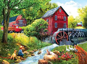 SUNSOUT Puzzle 1000 Piece Playing Hookey at the Mill (28751)