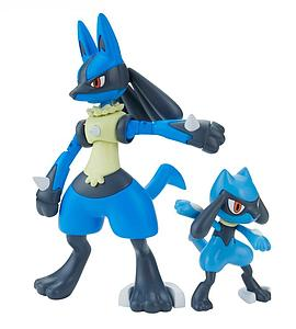 Pokemon Plastic Model Kit: Riolu & Lucario