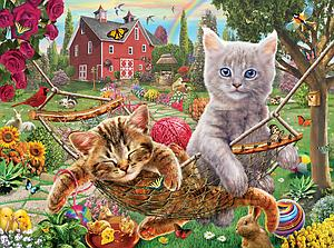 SUNSOUT Puzzle 1000 Piece Cats on the Farm (51824)
