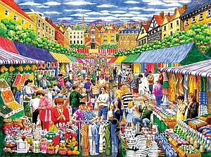 SUNSOUT Puzzle 1000 Piece A Day at the Marketplace (52415)