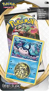 Pokemon Trading Card Game: Sword and Shield Rebel Clash Checklane Blister Pack - Mantine
