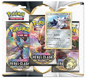 Pokemon Trading Card Game: Sword and Shield Rebel Clash 3-Pack Blister - Duraludon