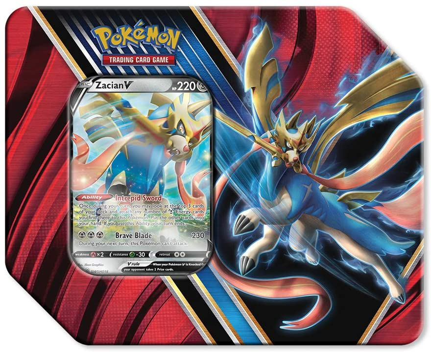 Pokemon Trading Card Game: Legends of Galar Tin: Zacian V