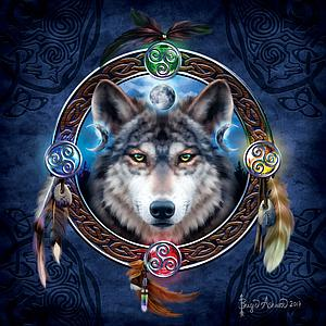 SUNSOUT Puzzle 1000 Piece Celtic Wolf Guide (20106)