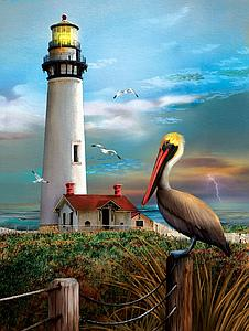SUNSOUT Puzzle 500 Piece Pigeon Point Lighthouse (28847)