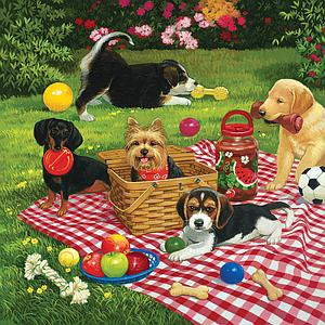 SUNSOUT Puzzle 500 Piece Puppies take Over (30476)