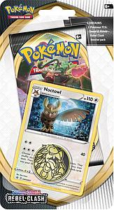 Pokemon Trading Card Game: Sword and Shield Rebel Clash Checklane Blister Pack - Noctowl