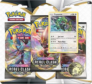 Pokemon Trading Card Game: Sword and Shield Rebel Clash 3-Pack Blister - Rayquaza
