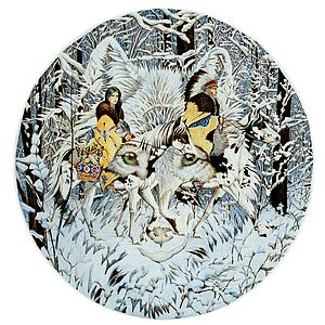 SUNSOUT Puzzle Round 1000 Piece Keeper of the Wolf (43001)
