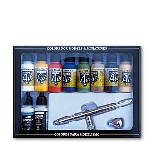 8 Model Air Colors Set - Basic Colors & Airbrush (71167)