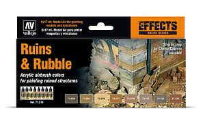 8 Model Air Colors Set - Ruins & Rubble (71214)