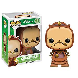 Pop! Disney Beauty & the Beast Vinyl Figure Cogsworth #91 (Vaulted)