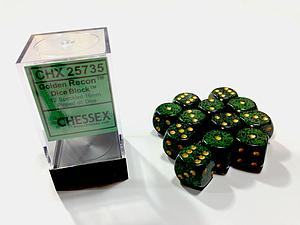 Dice 12D6 Set - Speckled Golden Recon