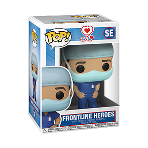 Pop! Icons Frontline Workers Vinyl Figure Frontline Heroes (Male in Dark Blue Scrubs) #SE