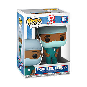 Pop! Icons Frontline Workers Vinyl Figure Frontline Heroes (Male in Light Blue Scrubs) #SE