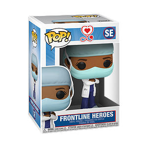 Pop! Icons Frontline Workers Vinyl Figure Frontline Heroes (Female in Dark Blue Scrubs) #SE