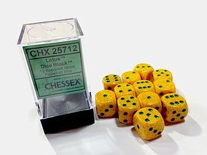 Dice 12D6 Set - Speckled Lotus
