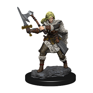 Dungeons & Dragons Icons of the Realms Premium Painted Figure: Human Barbarian (Female)