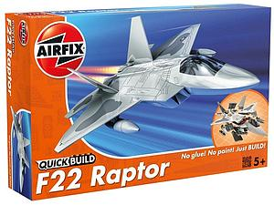 AIRFIX Plastic Model Kit Quick Build F22 Raptor (J6005)
