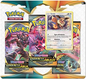 Pokemon Trading Card Game: Sword & Shield Darkness Ablaze 3-Pack Blister - Evee