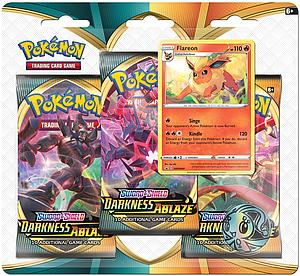 Pokemon Trading Card Game: Sword & Shield Darkness Ablaze 3-Pack Blister - Flareon