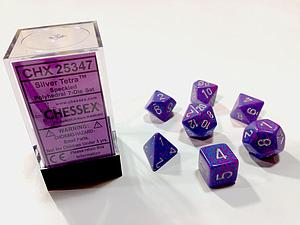Dice 7-Piece Polyhedral Set - Speckled Silver Tetra