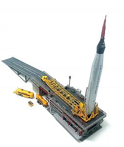 ATLANTIS 1:110 Scale Rocket Plastic Model Kit Mercury Capsule and Atlas Booster (H1833)