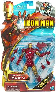 "HASBRO The Armored Avenger Legends Series 6"" Action Figure Iron Man Mark IV (Substandard)"