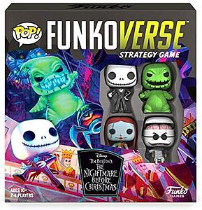 Pop! Funkoverse Strategy Game The Nightmare Before Christmas 100 4-Pack