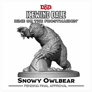 Dungeons & Dragons Icewind Dale: Rime of the Frostmaiden Miniature - Snowy Owlbear
